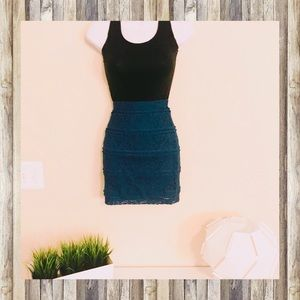 Forever 21 Turquoise Lace Skirt